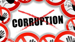 illustration of no corruption abstract concept background