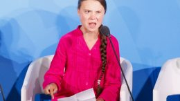 epa07864221 Greta Thunberg, the 16-years-old climate activist from Sweden, addresses world leaders at the start of the 2019 Climate Action Summit which is being held in advance of the General Debate of the General Assembly of the United Nations at United Nations Headquarters in New York, New York, USA, 23 September 2019. World Leaders have been invited to speak at the event, which was organized by the United Nations Secretary-General Antonio Guterres, for the purpose of proposing plans for addressing global climate change. The General Debate of the 74th session of the UN General Assembly begins on 24 September.  EPA/JUSTIN LANE